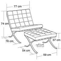 Barcelona Chair Dimensions Pinteres