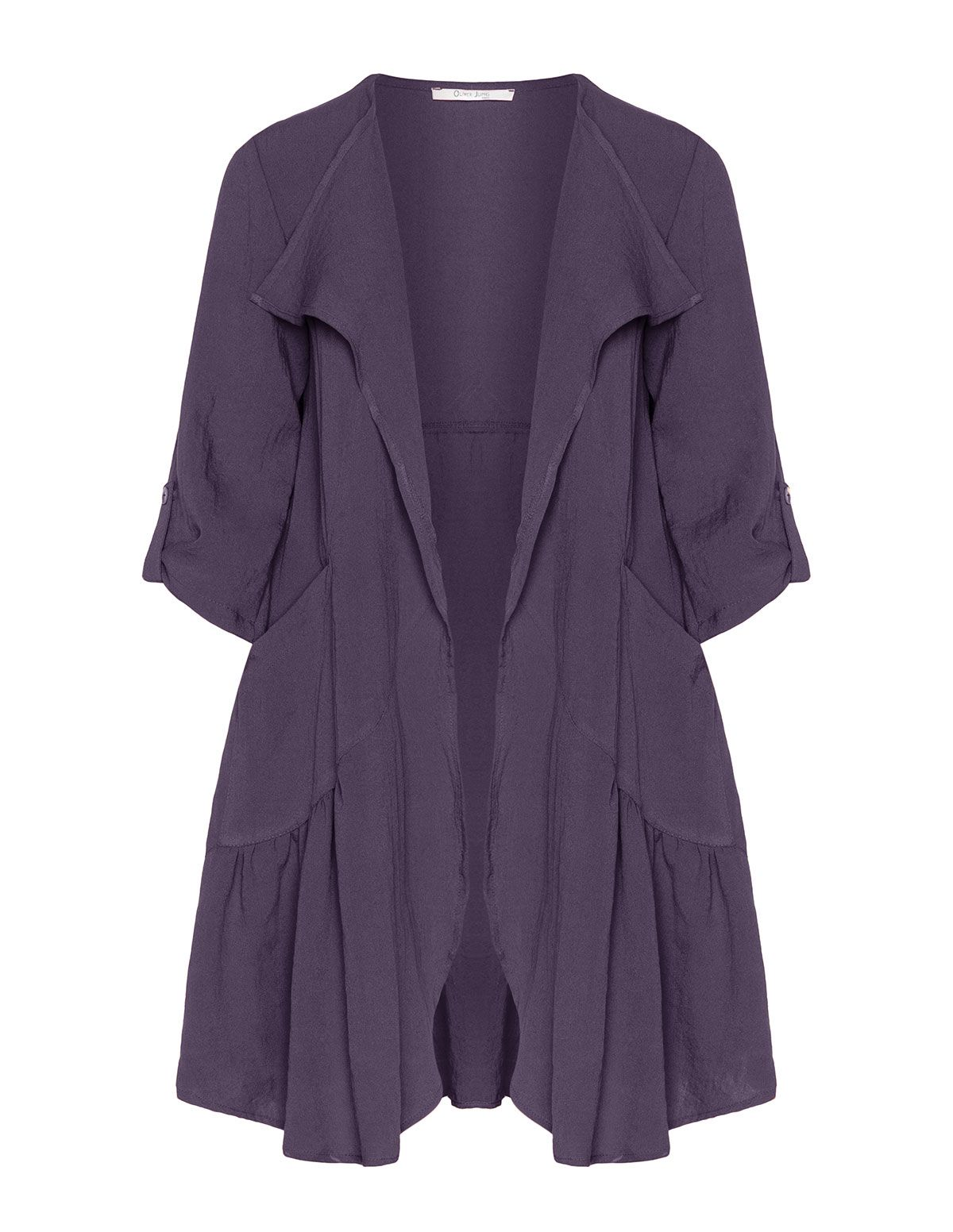 Oliver Jung Crinkled open jacket in Purple