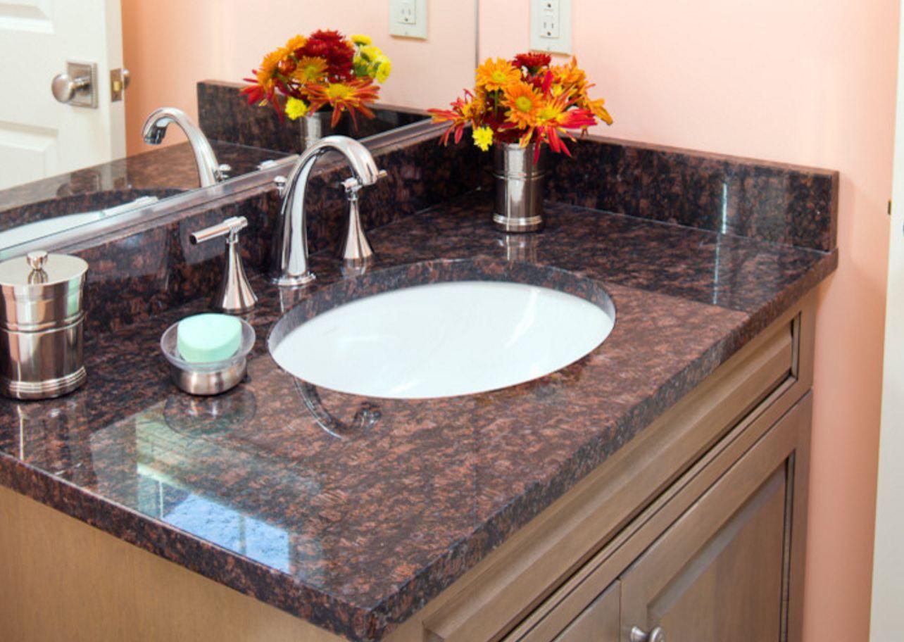 Waschtisch Granit wunderschöner granit waschtisch in brown oberfläche