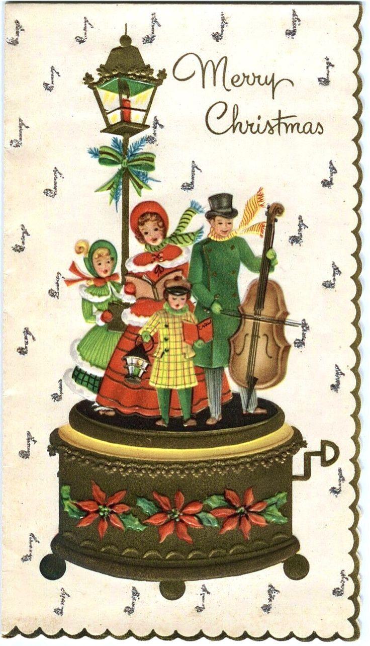 Old Christmas Post Cards — Christmas Carols (736×1284) | Old ...