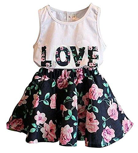 58b7f56a48fd BomDeals Adorable Cute Toddler Baby Girl Clothing 2pcs Top&pants Outfits  (5-6
