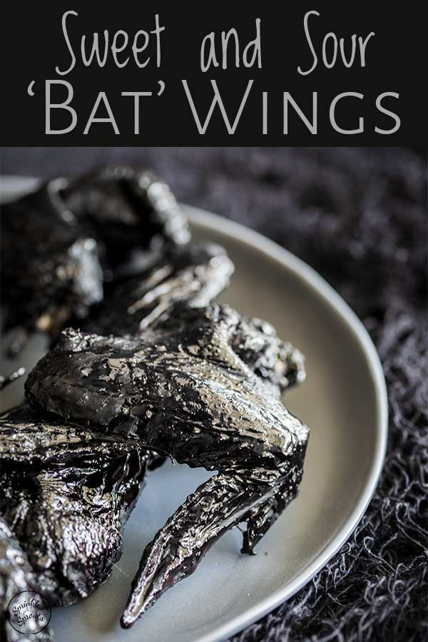 Sweet and Sour 'Bat' Wings | Sprinkles and Sprouts