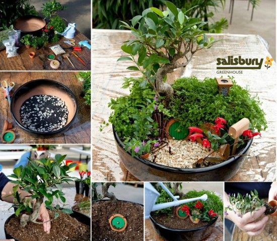 How To Make A Hobbit Hole Fairy Garden Mini jardines, Jardines y