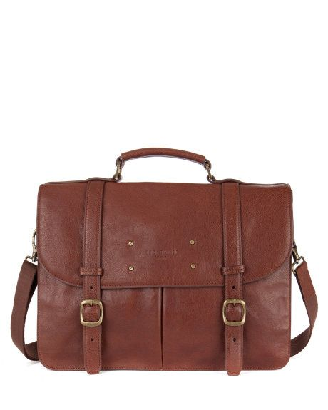 dda922de3a94 Grained leather briefcase - Tan | Bags | Ted Baker | PinpoinTED for ...