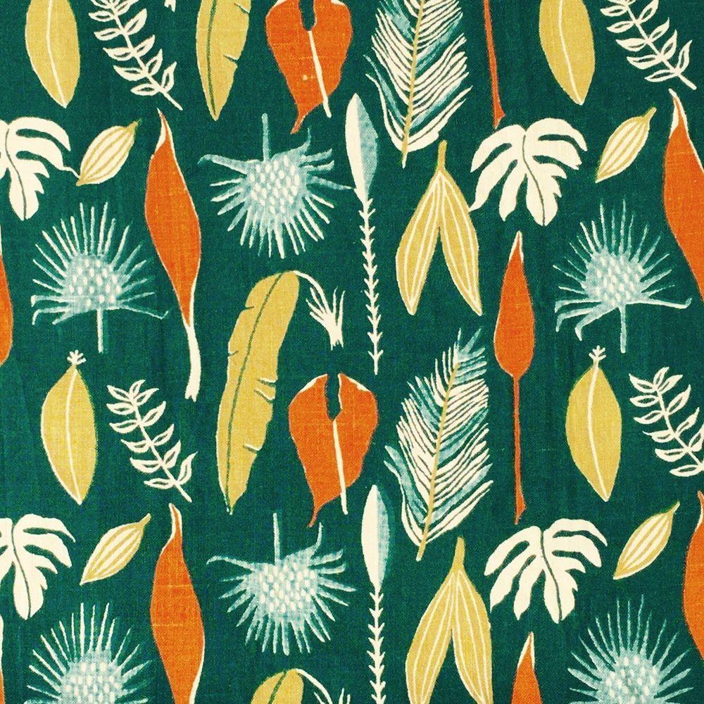 HEALS rare midcentury fabric Sylvia Chalmers Jaborandi vtg retro DIY picture art