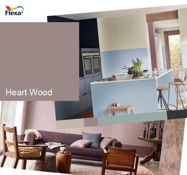 Flexa heart wood is de kleur van het jaar 2018 een warme uitnodigende en zachte volwassen - Kleur trendy restaurant ...
