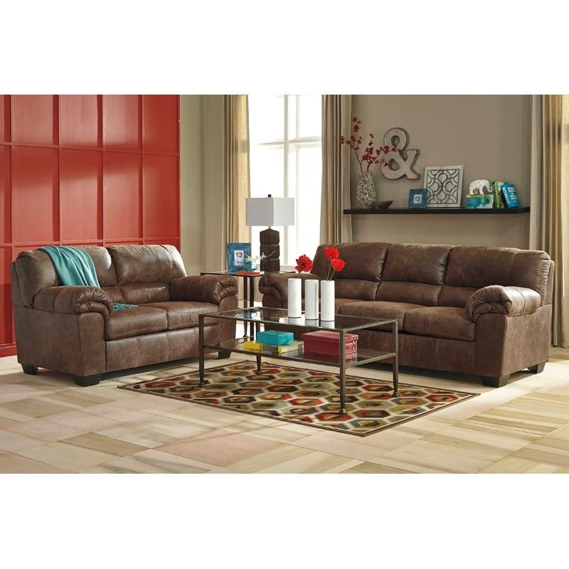 Best Bladen Sofa Brown Brown Blue Living Room Furniture Sofa 400 x 300