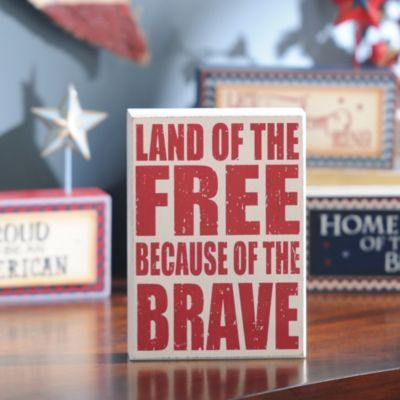Land of the Free Wall Plaque | Kirkland's-if can find would like this one