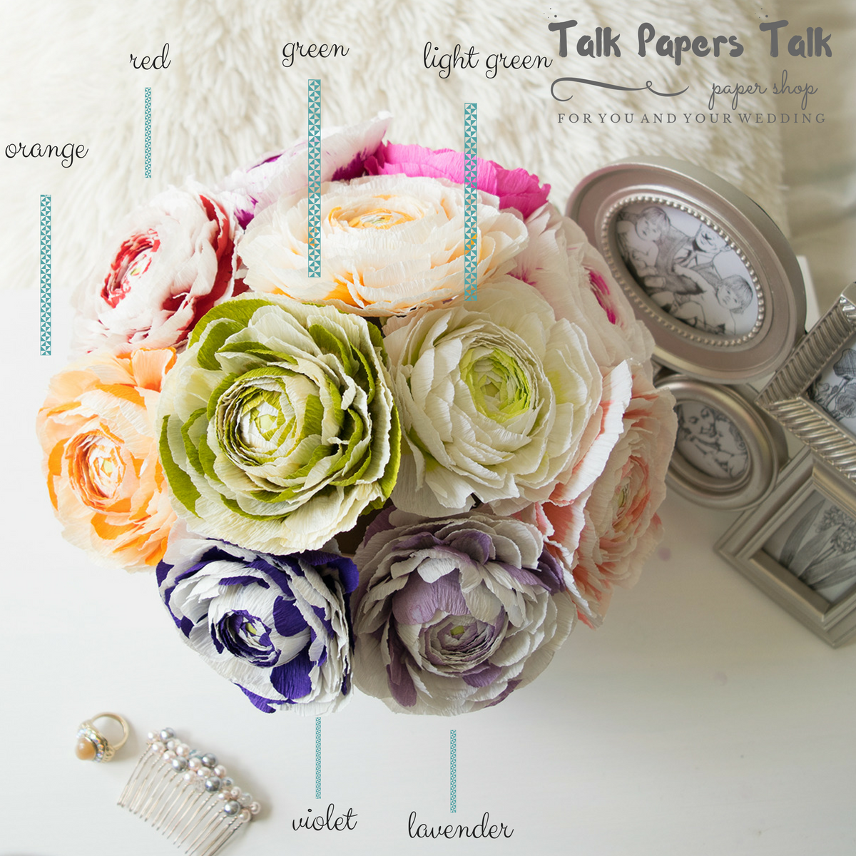 Wedding decoration png images  Crepe paper ranunculus  paperflowershop  paperflowers