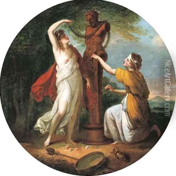 Nymphes adorant une statue de Priape divers Pinterest