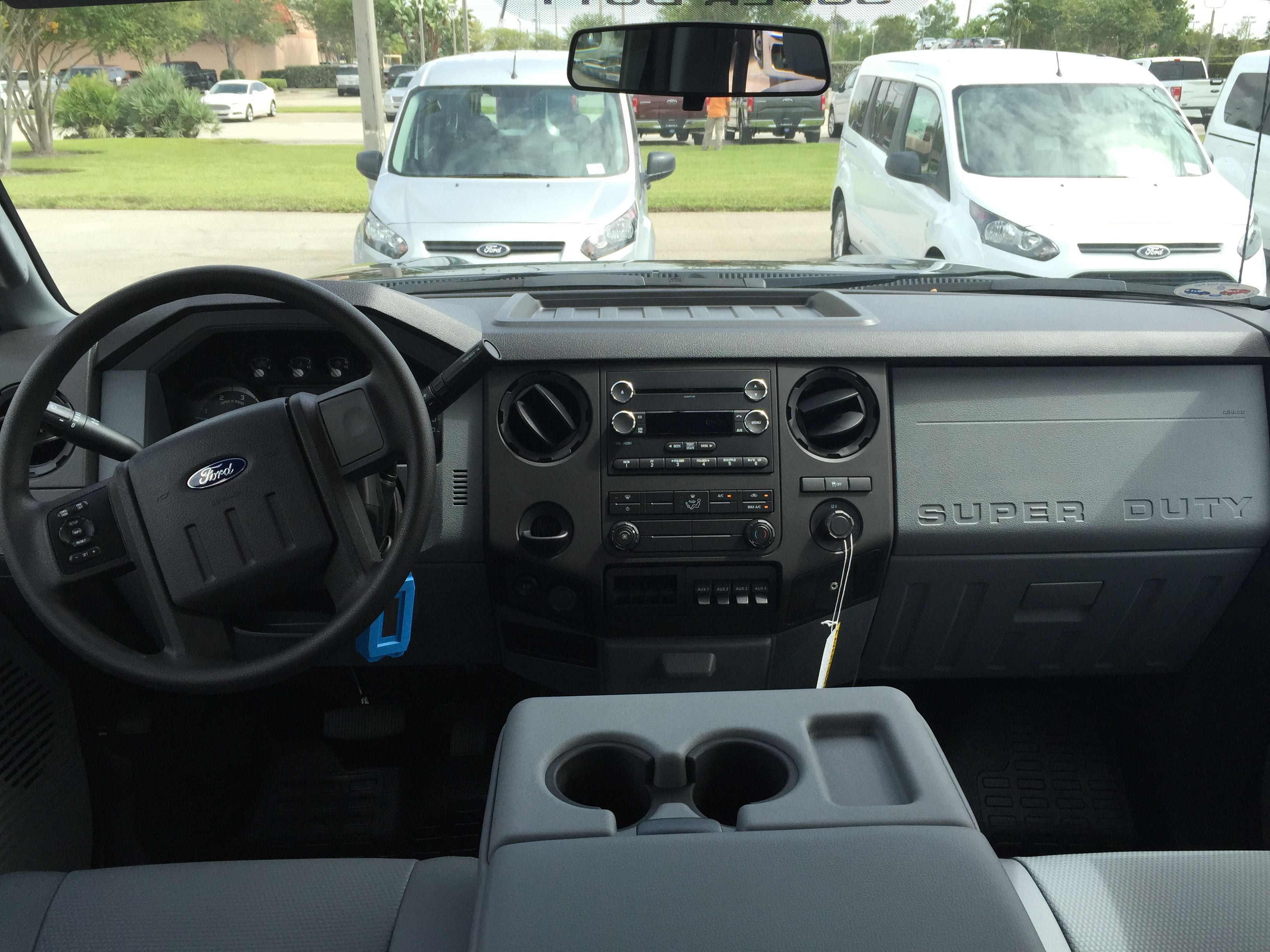2015 Ford F250 Powerstroke base interior, equipped with 6
