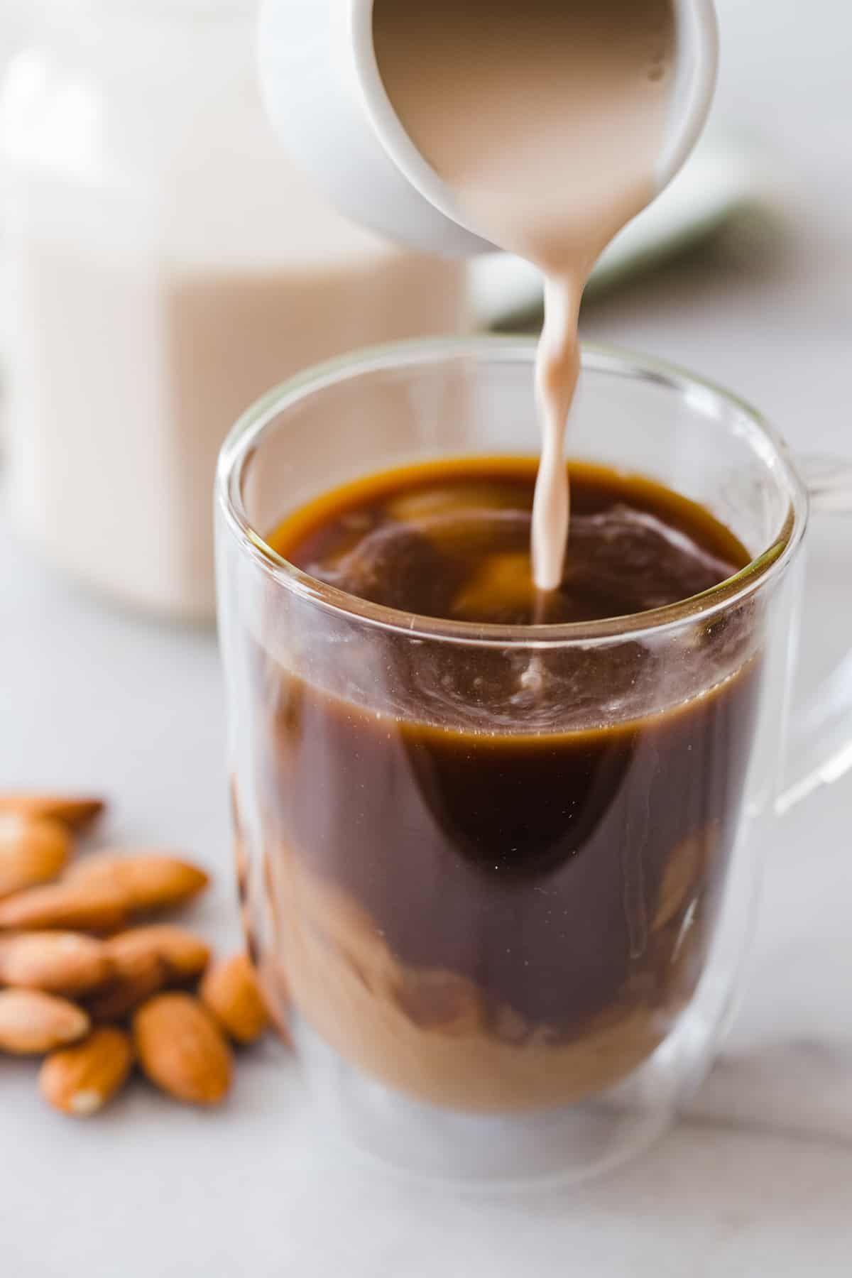 diy coffee creamer with almond milk