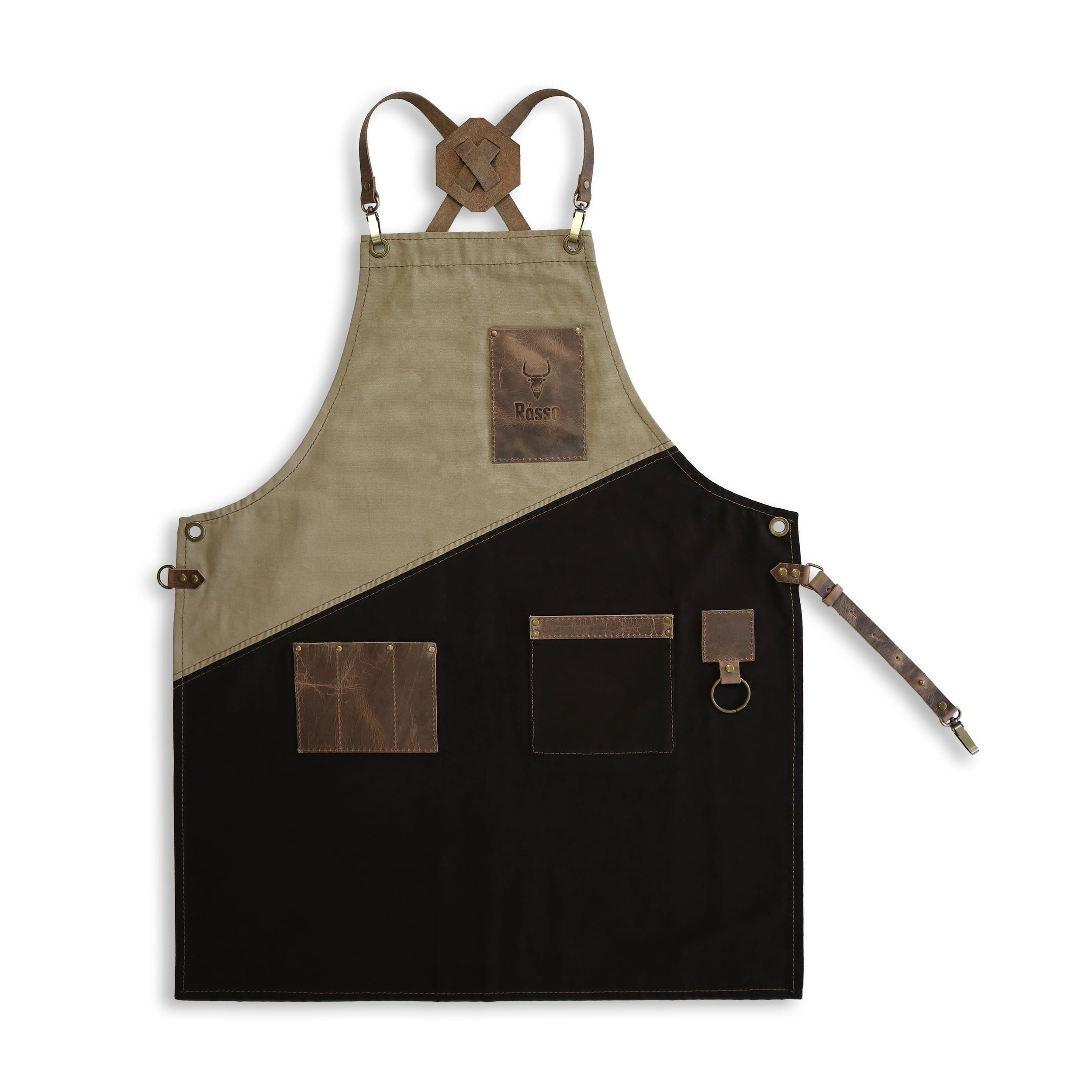 Unisex Canvas Cooking Catering Chef Barista  Work Apron with Big Pockets Country