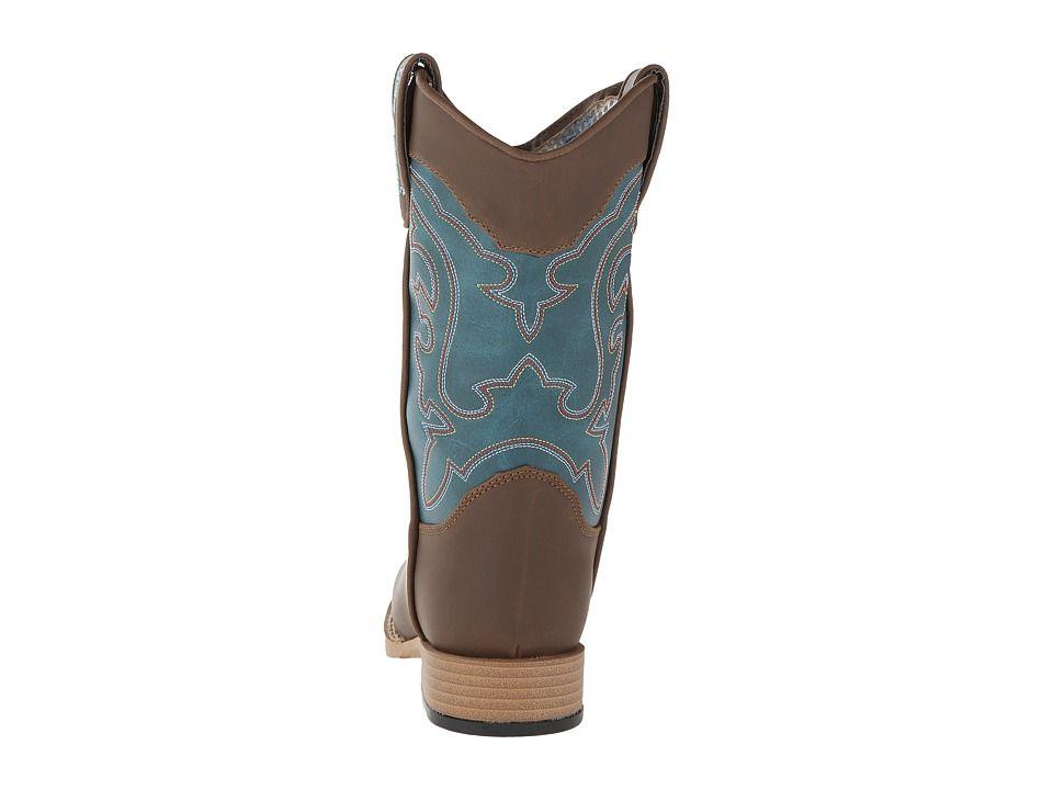 M&F Western Open Range (Little Kid) Cowboy Boots Brown/Turquoise