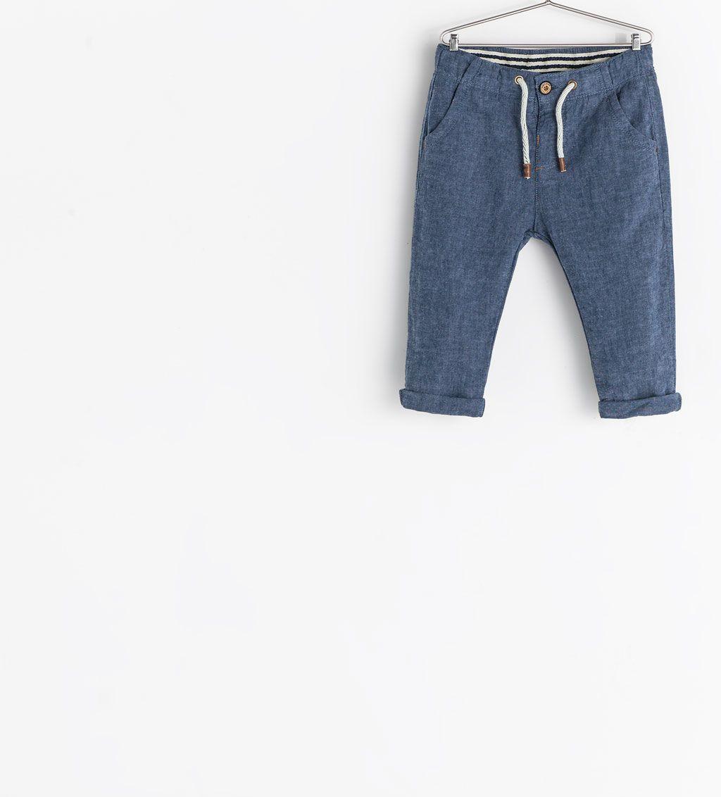 84bb1c28 Image 1 of DRAWSTRING TROUSERS from Zara | Leo. | Pinterest | Zara ...