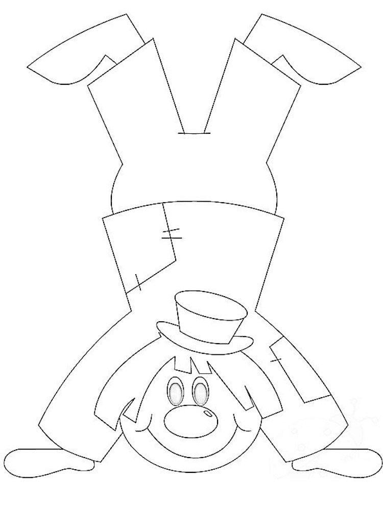 Mobile Clown Vorlage Handel Laufen Clown Basteln Faschingsmasken Basteln Clown Basteln Vorlage