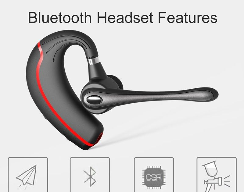 73a6c595f53 Best Price Honshoop V8 Business Bluetooth Headset stereo Noise Cancelling  bluetooth earpiece Handsfree Wireless Earpiece For smartphone