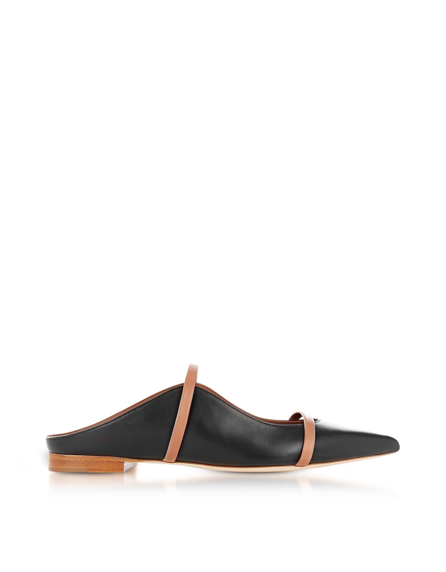 1da8523500 MALONE SOULIERS | Malone Souliers Malone Souliers Maureen Black And Nude  Nappa Leather Flat Mules #Shoes #Flat Shoes #MALONE SOULIERS