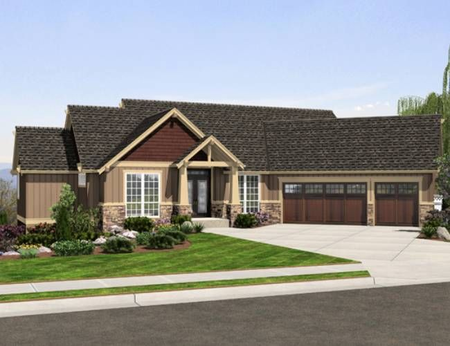 Ranch home plans with angled garage house design plans for Ranch house with garage