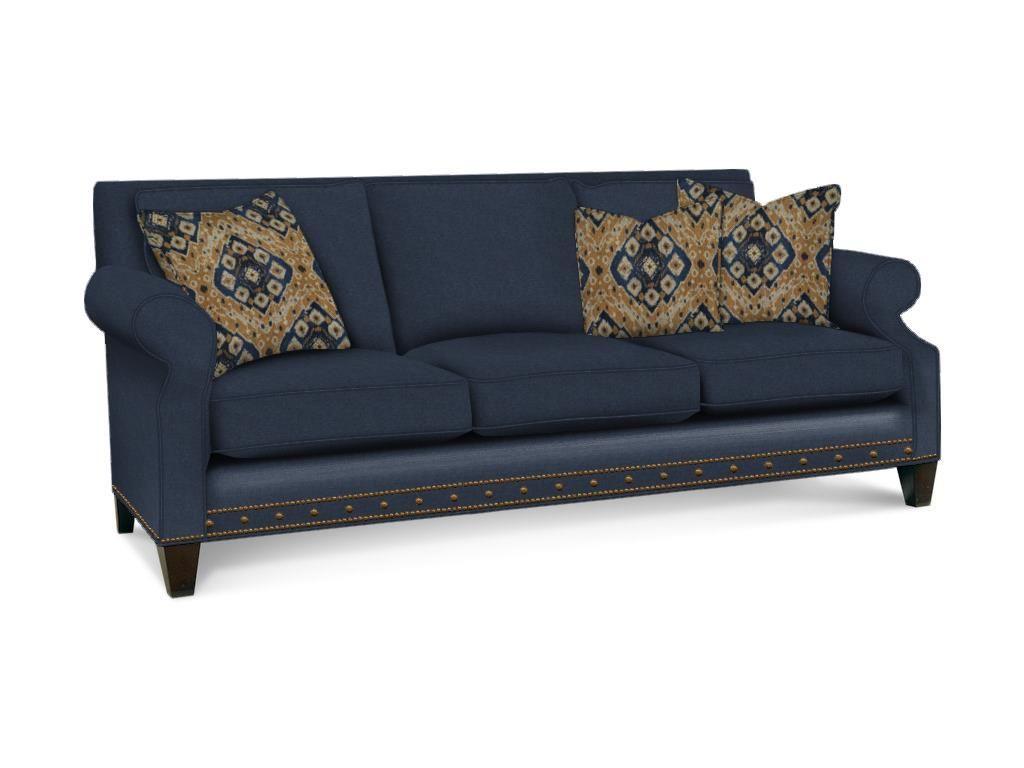 Sherrill living room three cushion sofaloose seat cushionloose