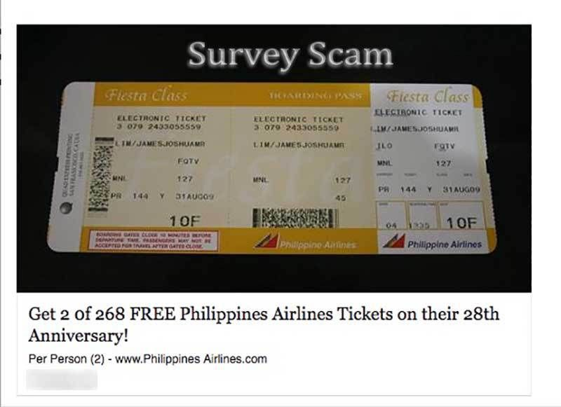 No, Philippine Airlines is NOT Giving Away Free Airline Tickets on - fake airline ticket maker