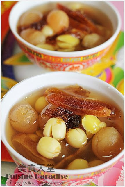 Lotus Seeds, Longan And Persimmon Sweet Soup Sweet soup