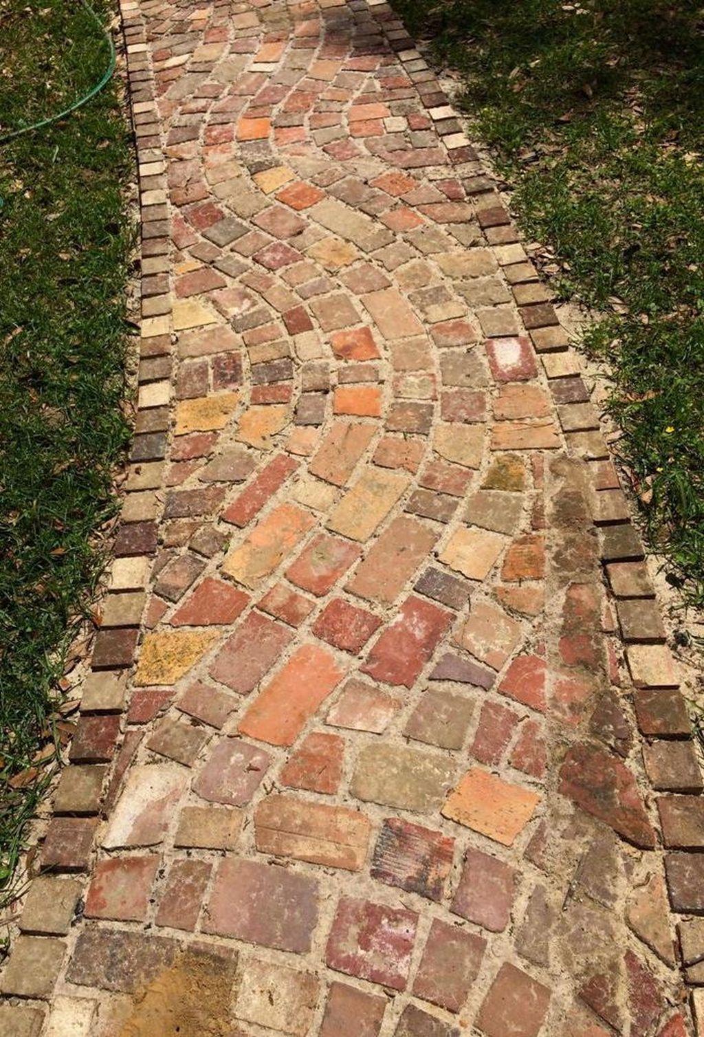 Pin By Marina On Bricks Brick Garden Brick Path Small Backyard