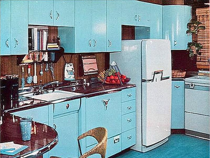 1950s Kitchen Design how home decor has drastically changed over the decades | vintage