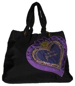 cc94e3bedc Vera Wang Princess Fragrance Large Tote Black With Purple Details Travel Bag .