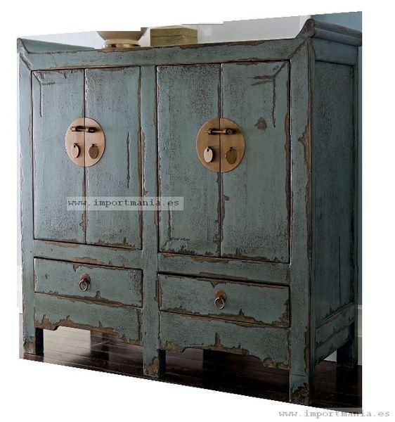 Mueble aparador chino envejecido   muebles orientales   Pinterest ...