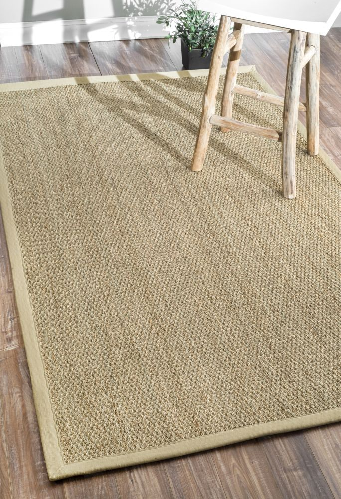 5 Off when you share! Maui Seagrass with Border Black Rug