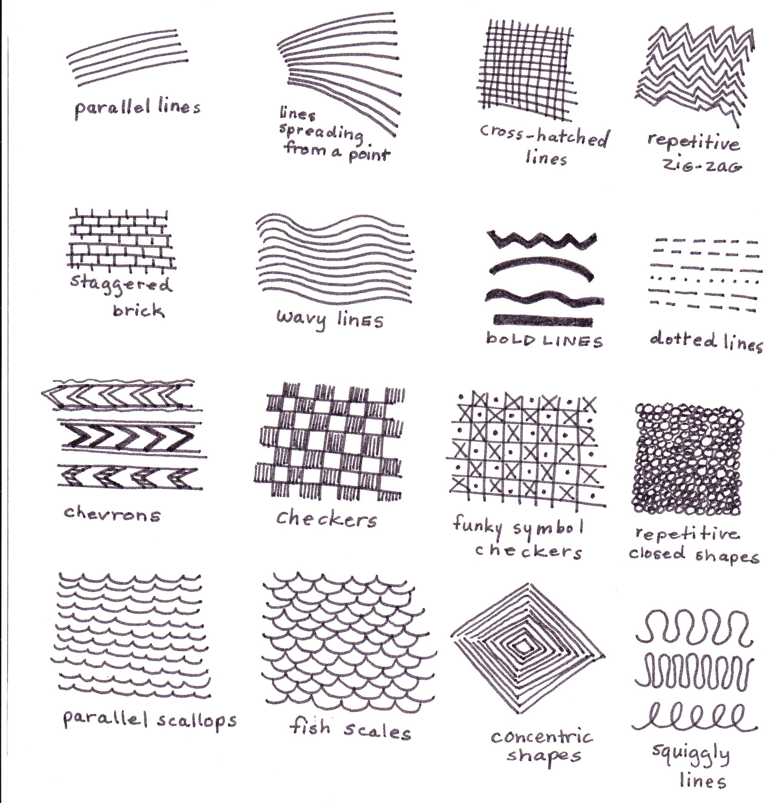 Different Types Of Lines In Art Drawing : Pattern from lines journal pinterest patterns