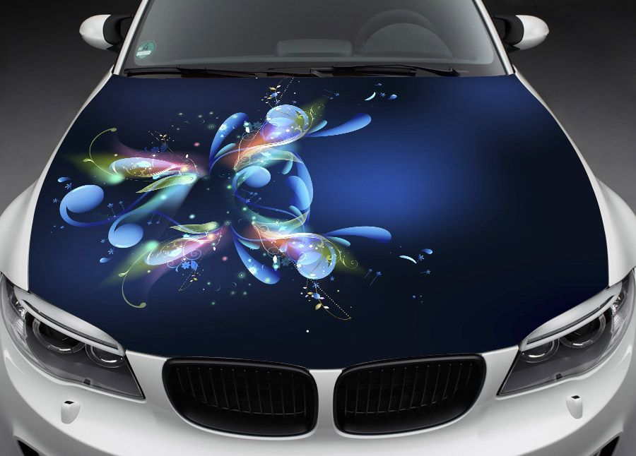 Fit Any Car Sticker Vinyl Decal Color Hood Anime Cars - Best automobile graphics and patternsbest stickers on the car hood images on pinterest cars hoods