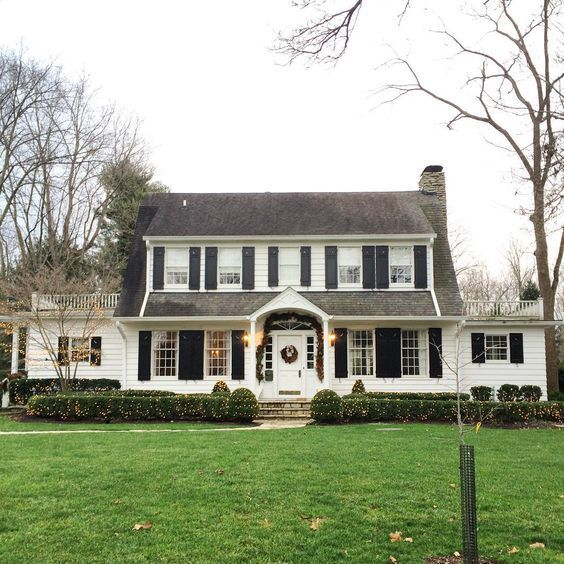 97 Homes With Major Curb Appeal Dutch Colonial Homes Colonial Exterior Colonial House Exteriors