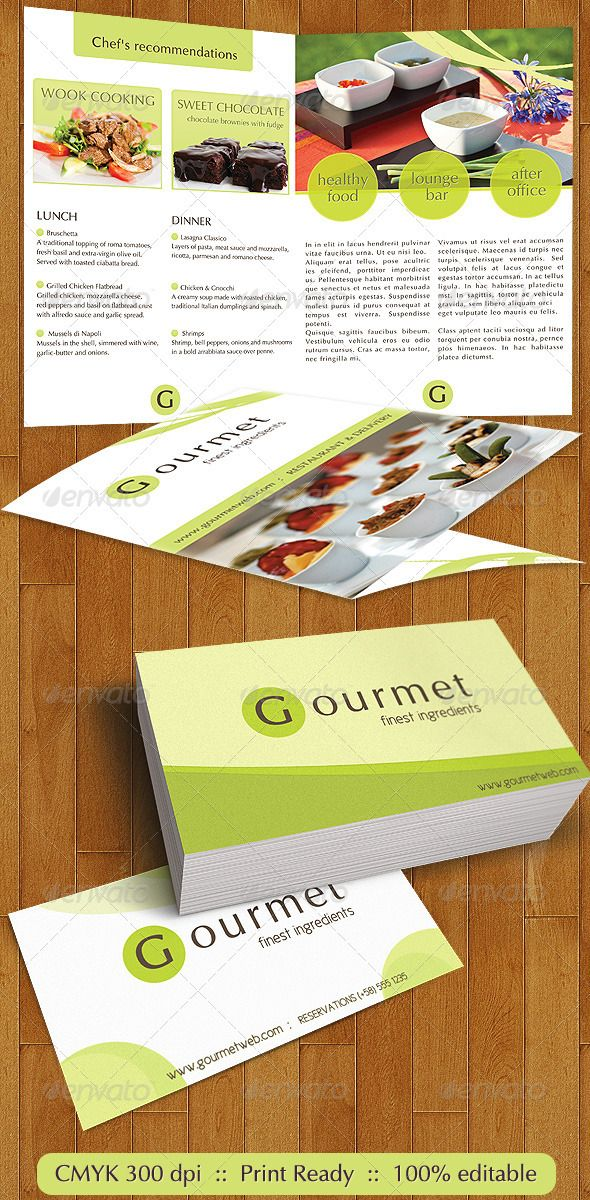 Gourmet Food Catering Menu and Business Cards Catering menu - catering menu template free