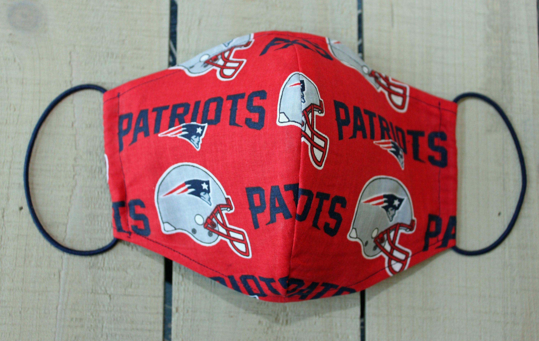 Ne Patriots Team Fabric 100 Cotton Face Mask Hand Sewn Mask Etsy In 2020 Face Mask Hand Sewing Mask Making