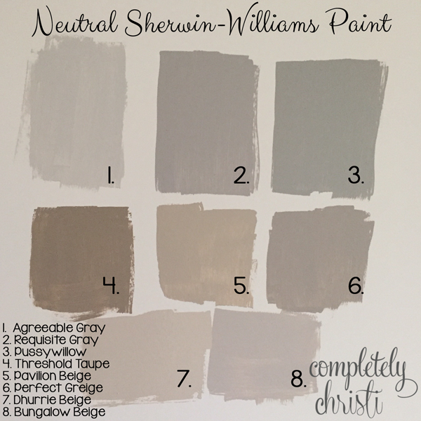 Neutral Sherwin Williams Paint Gray Beige Bedroom Guest Colors Master