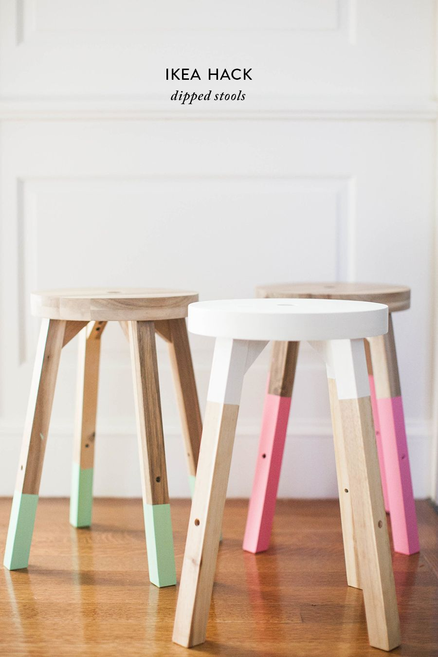 Photography : SMP Living Read More on SMP: http://www.stylemepretty.com/living/2016/04/12/on-trend-diy-dipped-stools-for-half-the-price/