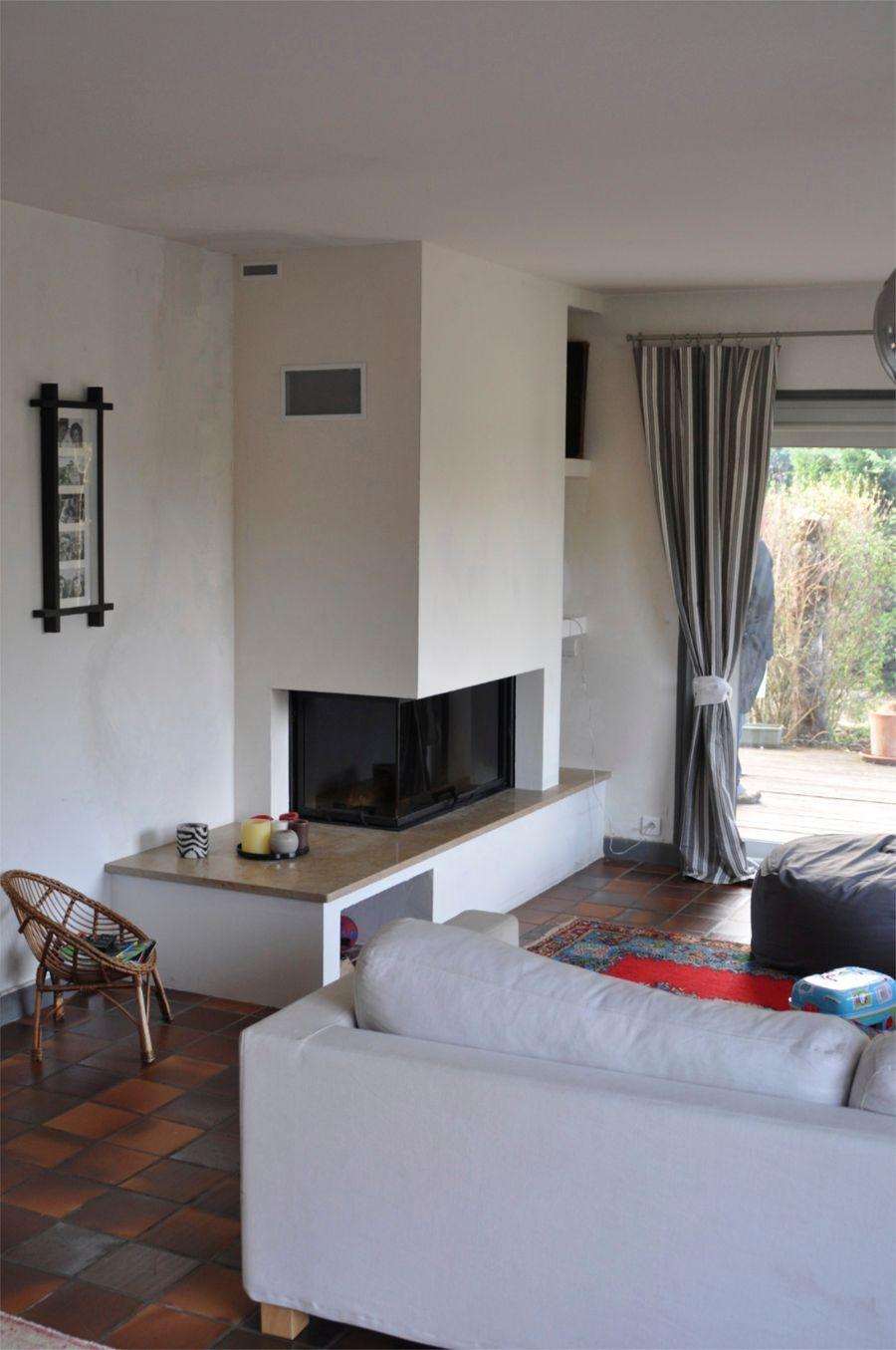 Cheminées sur-mesure Aspen Haute-Savoie   fireplace in the living ...
