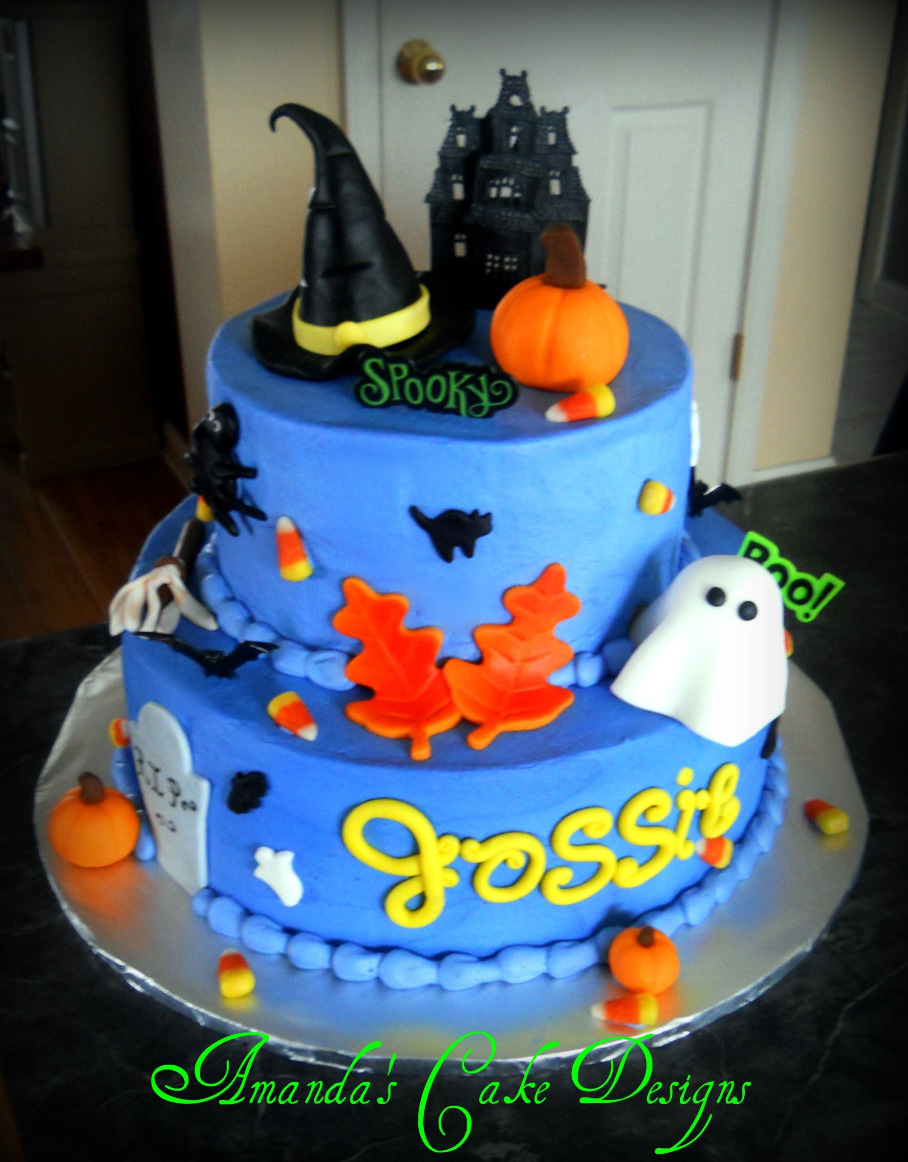 Halloween Birthday cake Amanda s Cake Designs