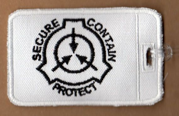 Scp Foundation Embroidered Luggage Tag Etsy Embroidered Luggage Tags Scp Foundation Logo