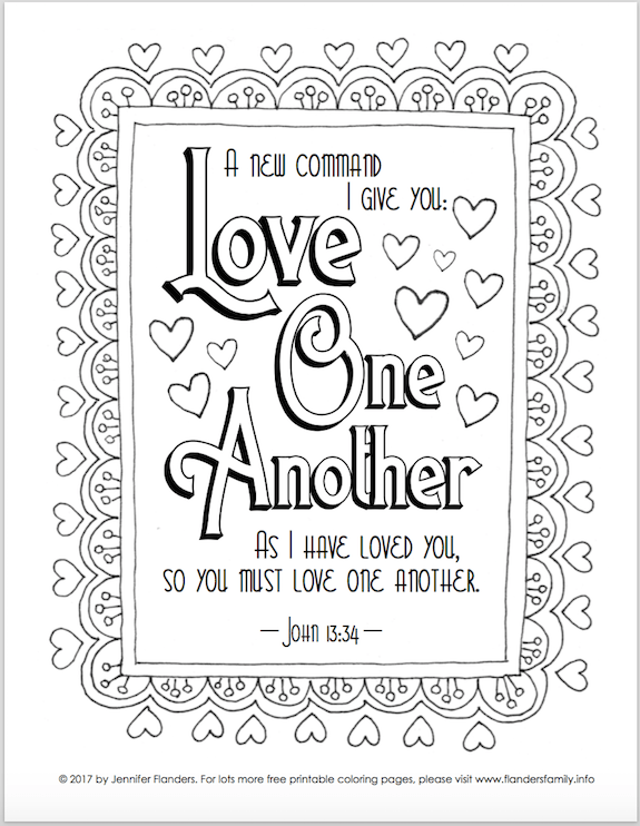 Valentines Bible Colouring Pages Designs Collections