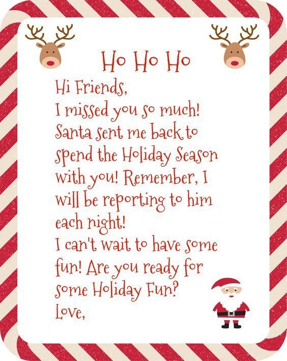 Free Printable Elf on the Shelf Arrival Letter - Sprinkle Savings