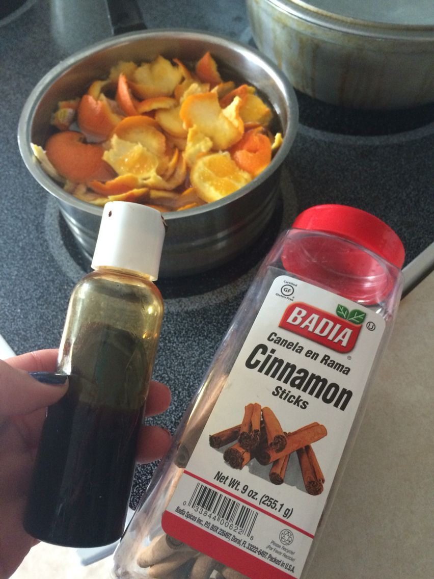 Great Smell In The Kitchen: Deodorizer. Boil Orange Peels, Cinnamon Sticks  And Some