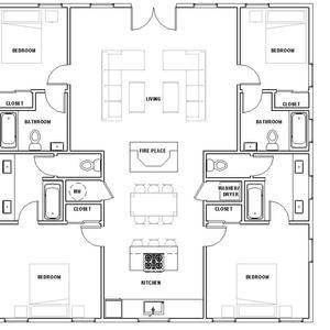 Spacious Cottage 3 bed 2 bath 40 x40 Custom House Plans and Blueprints