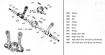 Simplex Retro Friction Shifters Parts List Exploded Diagram Sum Of