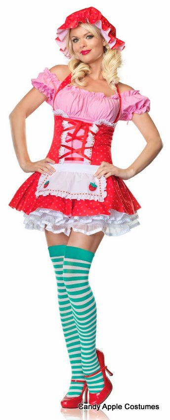 Strawberry Shortcake Country Girl Adult Costume - Candy Apple