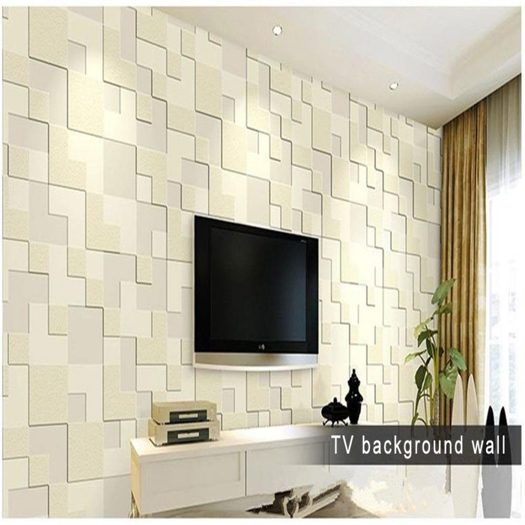 10m Modern Simple 3d Mosaic Living Room Non Woven Wallpaper Home Background Decoration Modern Interior Decor Home Decor Living Room Decor