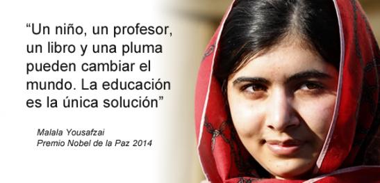 Frase Malala Mensaje Motivador Malala Yousafzai Frases
