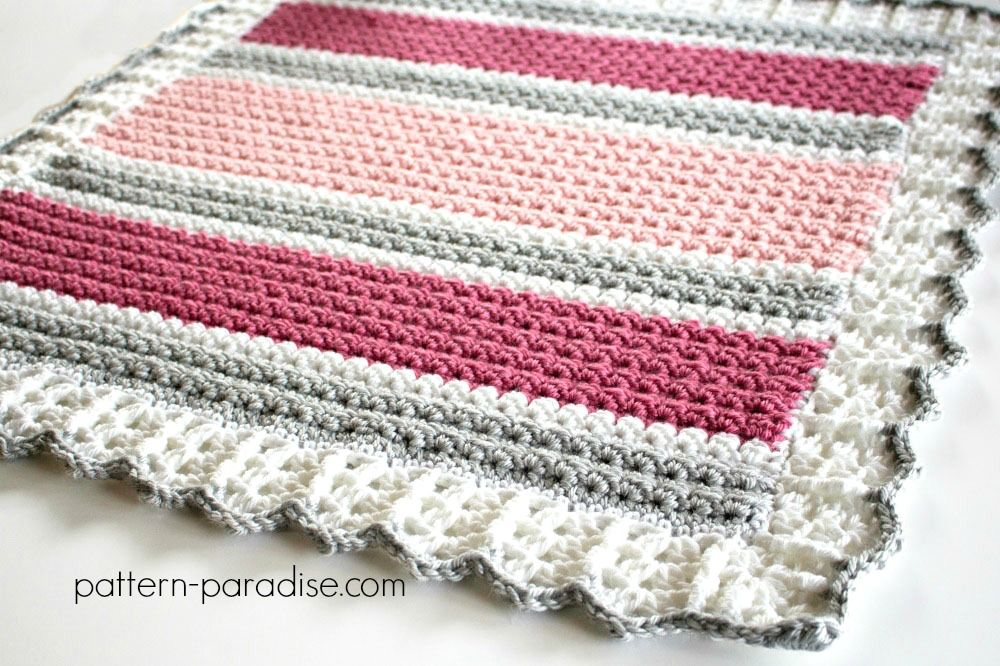 Essentials Baby Blanket Crochet Pattern by Pattern-Paradise.com ...